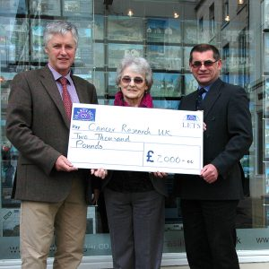 Cancer Research Cheque